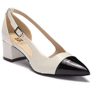 "M Bruno Magli ""Lisette"" Patent Cap Toe Heel"